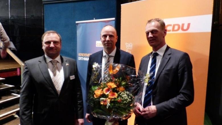 Volker Nielsen, Andreas Hein und Johannes Callsen